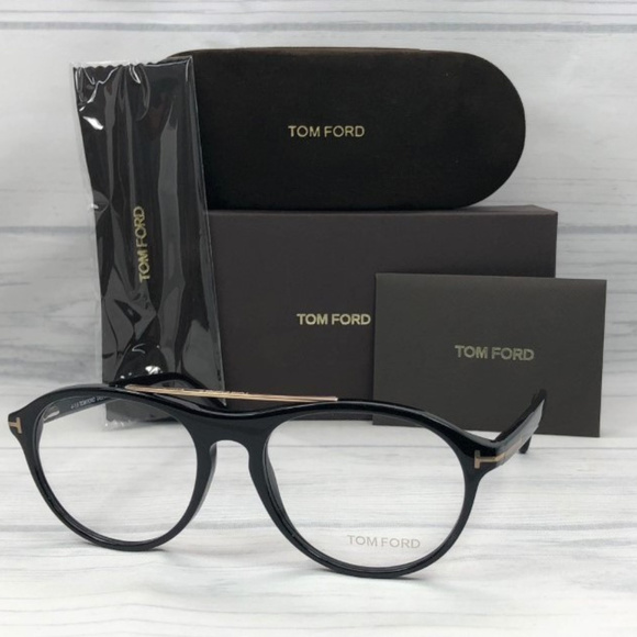 8c9de6f680 Tom Ford TF5411 O 001 Shiny Black   Demo Lens 53mm